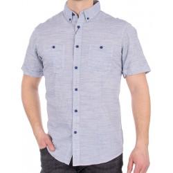 Jasnoniebieska koszula Pako PJKR 3 Boa krótki rękaw r. M L XL 2XL 3XL