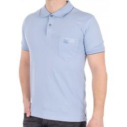 Błękitna koszulka Pako Jeans TM Rich polo z kieszenią M L XL 2XL 3XL