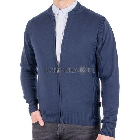 Rozpinany sweter bez kieszeni Jordi J-795 kolor granatowy
