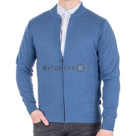 Rozpinany niebieski sweter Jordi J-795 bez kieszeni