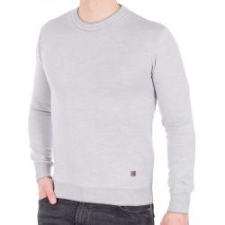 Popielaty sweter u-neck Jordi J-506 pod szyję rozm. M L XL 2XL 3XL