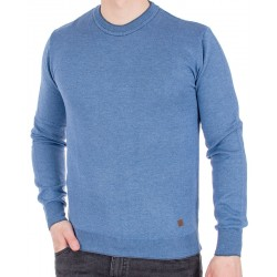 Niebieski sweter pod szyję Jordi J-506 u-neck rozmiar M L XL 2XL 3XL