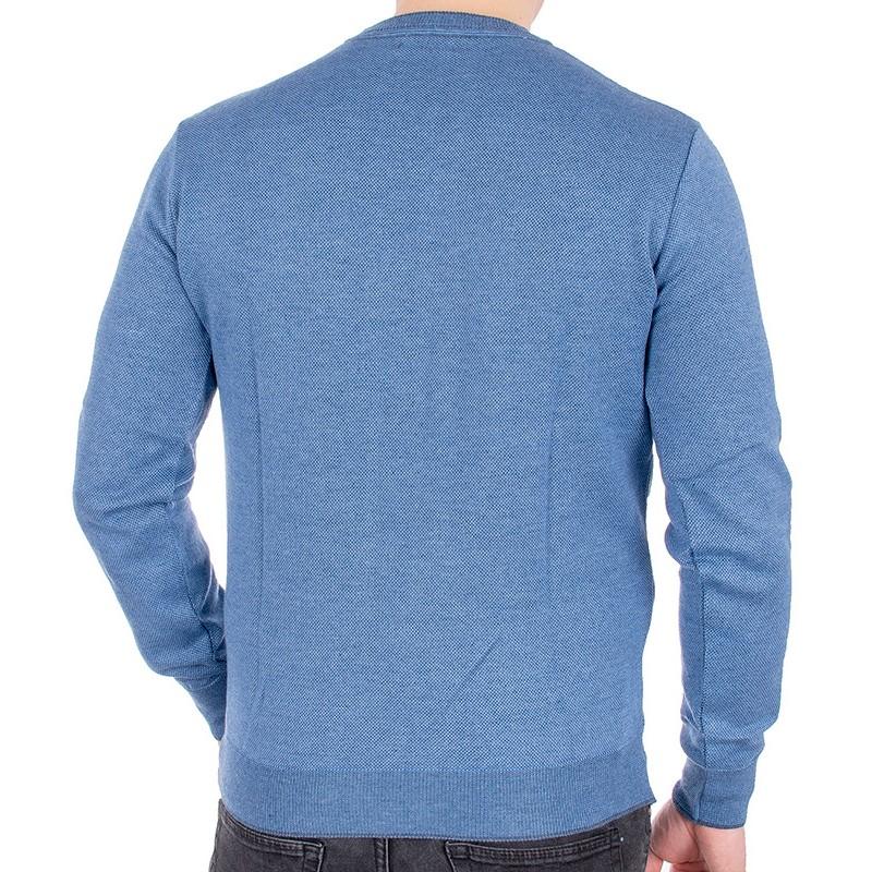 Niebieski sweter pod szyję u-neck Jordi J-506