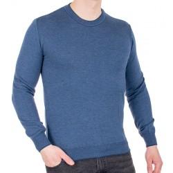 Ciemnoniebieski sweter u-neck Jordi J-506 bawełniany M L XL 2XL 3XL