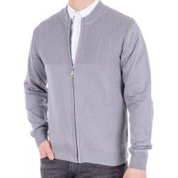 Popielaty sweter rozpinany Lasota Tymon z przeszyciem M L XL 2XL 3XL