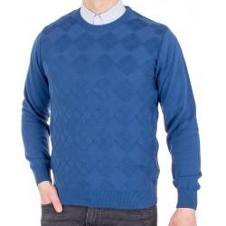 Sweter u-neck Lasota Hugo pod szyję kolor atlantik roz. M L XL 2XL 3XL