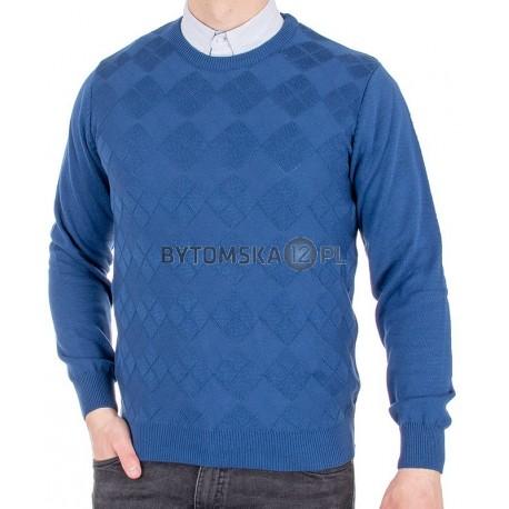 Sweter u-neck Lasota Hugo pod szyje atlantik