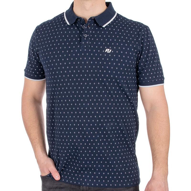 Granatowa koszulka Pako Jeans T1M Polo Adonis GR