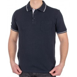 Granatowa koszulka Pako Jeans TPJ Polo City GR z kr. rękawem