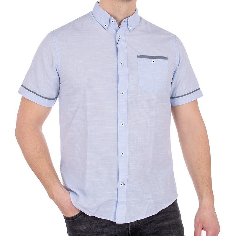 Koszula Pako Jeans KR 1 Play błękitna - krótki rękaw