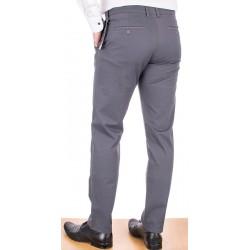 Męskie bawełniane spodnie chinos Lord R-99 szare roz. 82-112 cm