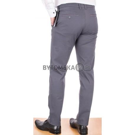 Męskie bawełniane spodnie Lord R-99 koloru szarego - chinosy