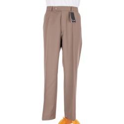 Niezwężane spodnie Lord wełniane w kant ciepły beżowy roz. 78 -114 cm