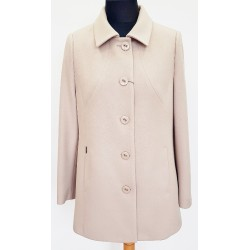 płaszcz damski Huna Milena jasnobeżowy rozmiar 44 46