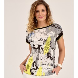 bluzka damska Sunwear D37-2-57 biało czarna rozmiar 38 40 42 44