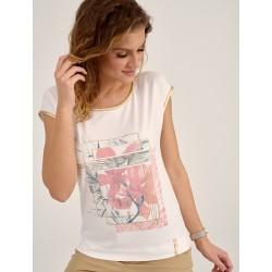 bluzka damska Sunwear D40-2-11 kremowa rozmiar 40 42 46 48