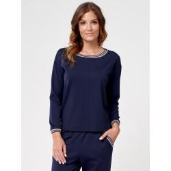 bluzka damska dzianinowa Sunwear C34-5-30 granatowa rozmiar 38 46 48