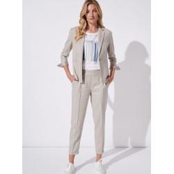 spodnie damskie lniane Feria FH704-5-23 beżowe rozmiar 38 40 42 44
