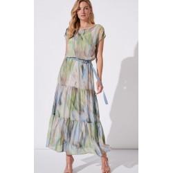 sukienka Feria FH221-2-13 tiul multikolor rozmiar 38 40 42 44 46