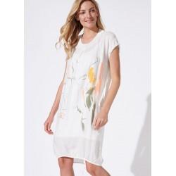 sukienka letnia Feria FH228-2-08 ekrii rozmiar 36 38 40 42 44 46