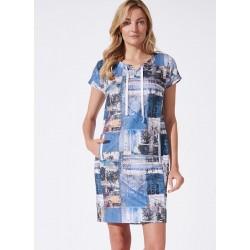 sukienka Feria FH208-2-15 niebieska rozmiar 40 42 44