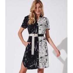 sukienka letnia Feria FH214-3-57 czarno biała rozmiar 38 40 42 44 46
