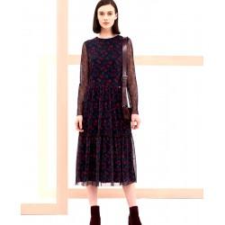sukienka Feria FG230-5-30 łączka granatowa rozmiar 40