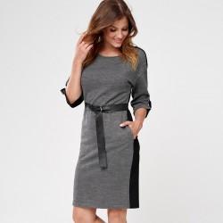 sukienka Sunwear CS205-4-10 jodełka czarna rozmiar 38 40 42 46 48