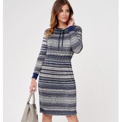 sukienka Sunwear CS209-5-30 granatowa rozmiar 46 48