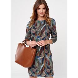 sukienka Sunwear CS211-5-15 multi granatowo zielona rozmiar 38 42