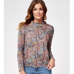 bluzka z wzorkiem Sunwear C29-5-78 multikolor rozmiar 40 42