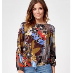 bluzka w kwiatki Sunwear C13-5-15 wielokolorowa rozmiar 42 44 46