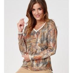bluzka damska Sunwear C26-5-24 multikolor rozmiar 38 40
