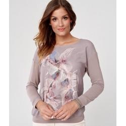 bluzka Sunwear C19-5-11 pudrowa ciemno różowa rozmiar 46 48