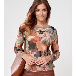 bluzka długi rękaw Sunwear C23-5-24 multikolor rozmiar 38 40 46