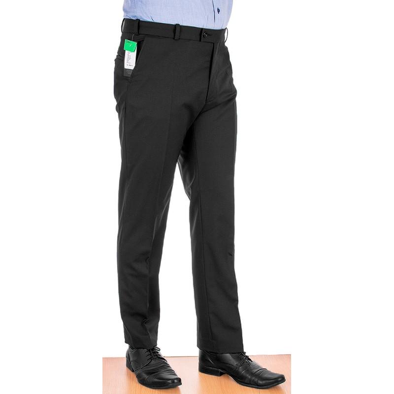 Czarne wełniane spodnie wizytowe w kant Racmen 2562R
