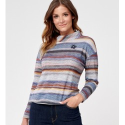 bluzka w pasy Sunwear C40-5-53 multikolorowa rozmiar 40