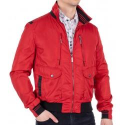 Nieocieplona wiosenna czerwona kurtka Biba KW Wiliams 48 50 52 54 56 58