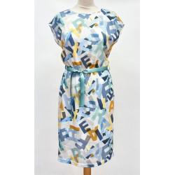 sukienka Feria FH229-2-15 niebieska rozmiar 38 40 42 44