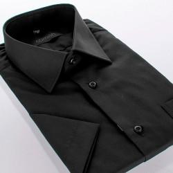 Czarna koszula regular Comen krótki rękaw 39 40 41 42 43 44 45 46