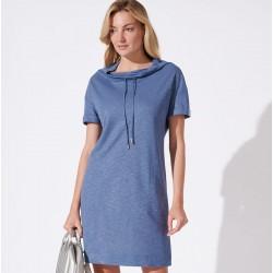 sukienka Feria FH225-3-15 gładka jeansowa rozmiar 38 40 44 48 40