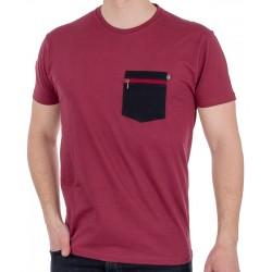 Bordowy T-shirt Kings 750-101Z z naszywaną kieszenią S M L XL 2XL 3XL
