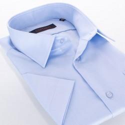 Niebieska koszula z krótkim rękawem Comen bawełniana - fason regular