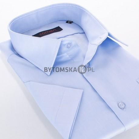 Niebieska koszula z krótkim rękawem Comen - fason regular