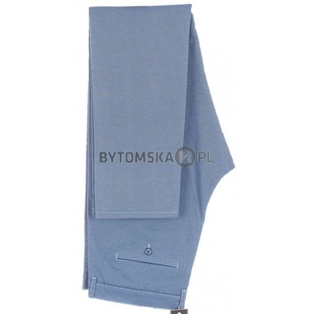 Niebieskie spodnie chinos Lord R-127 zwężane bawełniane