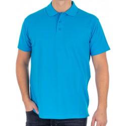 Gładka ciemnoturkusowa koszulka Polo Kings 750*802 z krótkim rękawem