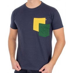 Bawełniany t-shirt z kieszeniami Kings 750-101KK - granatowy ciemny