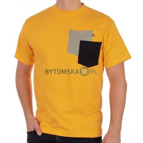 Pomarańczowy T-shirt Kings 750-101KK z dwoma kieszeniamii
