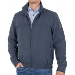 Granatowa kurtka wiosenna Canson 891 190 navy 03 krótka ze ściągaczem