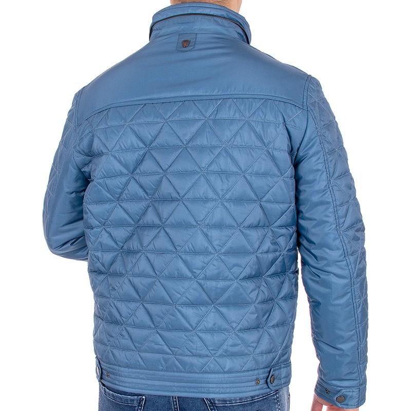 Niebieska kurtka przejściowa Canson 145 144 blue 04 pikowana
